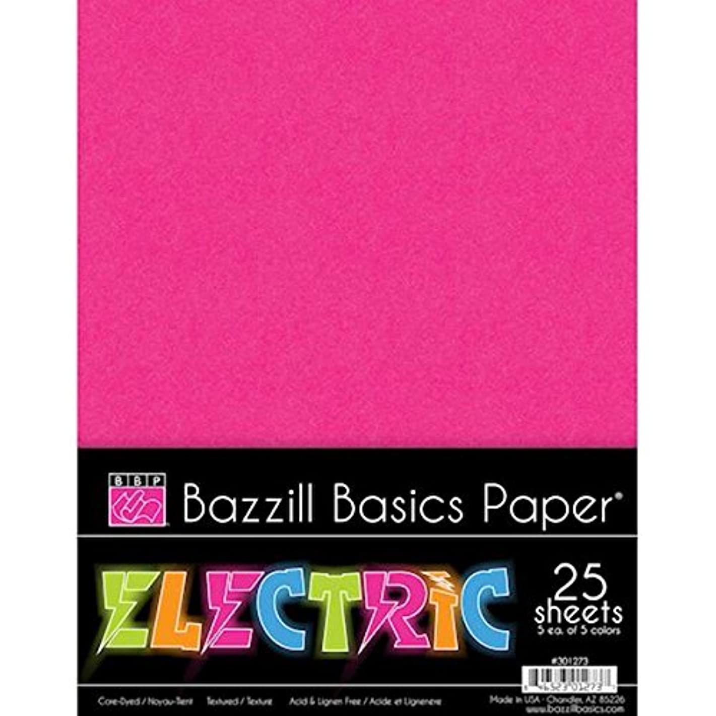 Bazzill 301273 Electric Cardstock Multipack, 8.5 by 11-Inch, 25-Pack