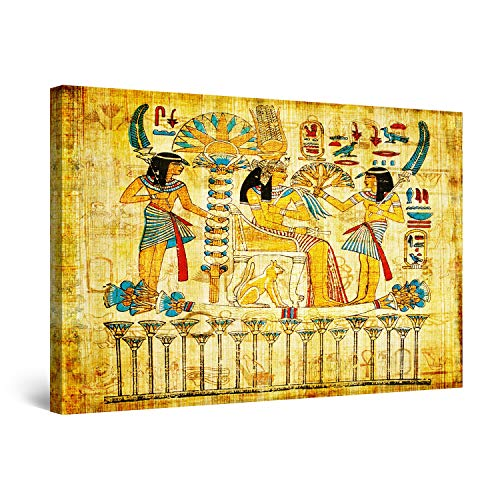 Startonight Cuadro Moderno en Lienzo Pintura Reina de Egipto, para Salon Decoración Grande de la Pared Enmarcada 80 x 120 cm