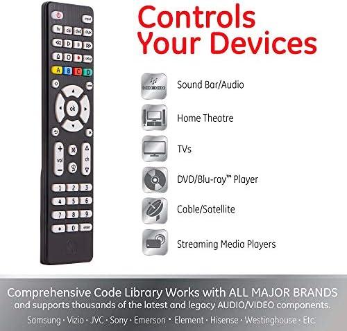 GE 33709 Mando a Distancia Universal para 4 Dispositivos, Serie de diseñadores, níquel Cepillado: Amazon.es: Electrónica