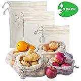 DIRANGOSTYLE Sac Réutilisable Fruits et Légumes en Coton – Bio Ecologique -...