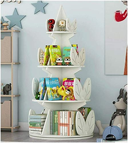 DaPengNB Pantalla de estantería de la habitación de los niños, estantería de niños Bookshelf 360 ° Rotación, Escritorio Organizador Accesorios Pantalla Rack para Niños Organizador para Libros