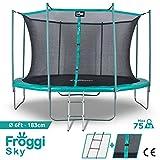 FROGGI XT-F0604YR - Trampoline d'Extérieur Sky - 183 cm - Norme CE - Charge Max 100 Kg