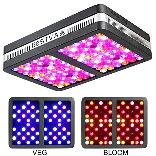 BESTVA SAMSUM Series 1200W COB LED Grow Light Full Spectrum Grow Lamp for Hydroponic Indoor Plants Veg and Flower (4 Dim Infrared Rays)