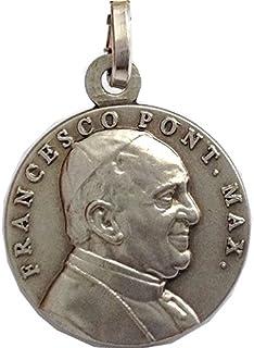 Medaglia di Papa Francesco In Argento Massiccio 925