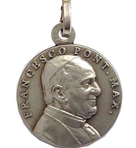 Medalla del papa Francisco en plata maciza 925