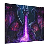 Trippy Dragon 16x20 Inch Decorative Arts Oil Painting On Canvas Hd Modern Home Posters Picture Walking Wall Artwork For Living Room Bedroom Decoration Framed Or Frameless