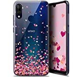 Case for 6.09 Inch Wiko View 3 Lite, Sweetie Heart Flakes