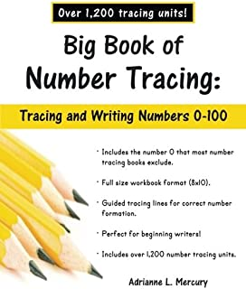 Big Book of Number Tracing: 0-100 (Over 1,200 Number Tracing Units)