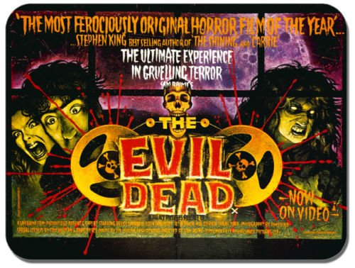 The Evil Dead Vintage Poster Tappetino per Mouse. Classico Film Horror Mouse Pad regalo