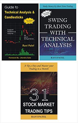 Ravi Patel Combo : Technical Analysis + Swing Trading + Stock Market Trading Tips (English Books)