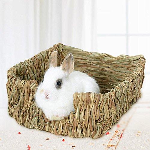 cuckoo-X Conejo césped Nido Cama, Natural heno Nido Masticar Juguete Cama para Gerbils, Conejo, hámster, Chinchillas, cobayas, hurón, Animales pequeños