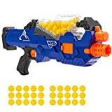 Best Choice Products Kids Motorized Soft Foam Ball Blaster, Electric Rapid Fire Toy Combat Battle Set for Children, Family w/Automatic Hopper Feeder, 20 Balls, Long Distance Shooting - Multicolor