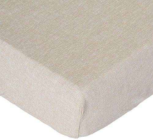Flax Linen Blend Crib Sheet