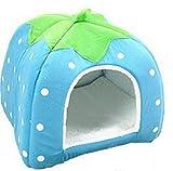 Cdet Hundestation Katzennest Haustier Nest Heimtierbedarf Erdbeernest Hundebett (Blue XXL)