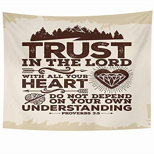Tapices para colgar en la pared Comprensión de la esperanza Lean Own Heart Your United Spirituality On Pray 3 5 in Lettering Trust Proverbios Tapiz Manta de pared Decoración del hogar Sala de estar Do