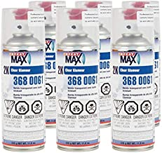 SprayMax 2K High Gloss Finish Clear Coat Spray Paint | Car Parts and Repair Refinishing Clear Coat for Permanent Sealing of Coated Surfaces | 6-Pack