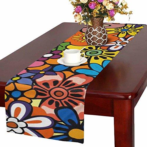Zenzzle Camino de mesa, 40 x 183 cm, diseño de flores brillantes y...