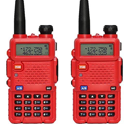 Profesionales Walkie Talkie,USB Recargable 1800 mAh,con Linterna,Walky Radiocomunicación,Distancia de Conversación 1-10 km,3