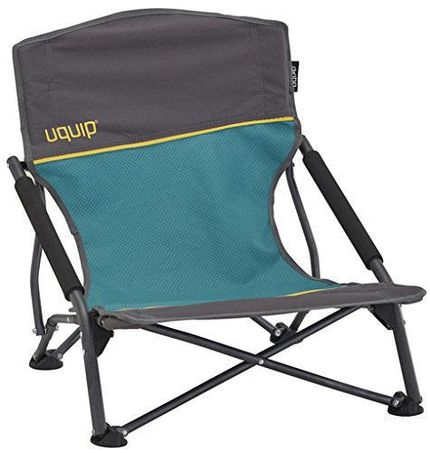 Uquip Sandy – Silla de Playa Plegable, cómoda y Estable, Azul/Gris
