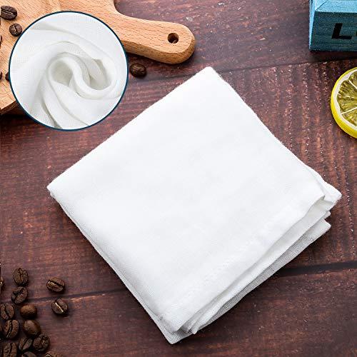 Paño de Algodón Puro Cuadrado de Muselina Suave, Apto para Colar Frutas, Filtro de Leche en El Hogar (50 x 50 cm, 2 Piezas)