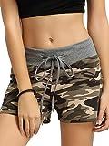 SweatyRocks Workout Yoga Shorts Pants Hot Shorts for Women Camouflage Small