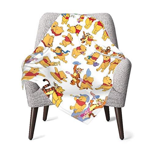 AOOEDM baby blanket Winnie The Pooh - Manta de bebé de poliéster de felpa súper suave, cálida manta de recepción para niña y niño, cómoda manta para cuna, cochecito, siesta, exterior, talla única