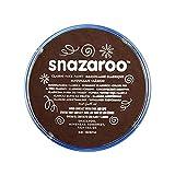 Snazaroo- Pintura facial y Corporal, 18 ml, Color marrón oscuro, 0 (Colart 18999)