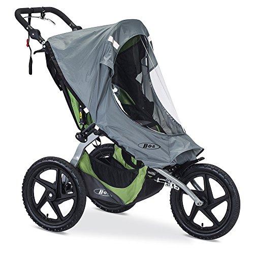 BOB Weather Shield for Single Fixed Wheel Jogging Strollers, Grey
