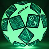 adekale Soccer Ball,Battery-Free Light Up Soccer, Glow in The Dark Soccer, Fluorescent Bright After Sun...
