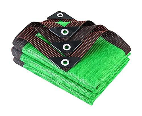 LLCY Paño Verde de la Sombra 90% de protección Solar Tela de Sombra Anti-UV Terraza al Aire Libre Jardín Césped Shade Net Malla de sombreo (Color : Green, Size : 2x8m)