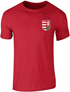 Hungary Soccer Retro National Team Costume Graphic Tee T-Shirt for Men