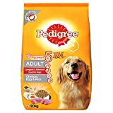 Pedigree Adult Dry Dog Food (High Protein Variant) Chicken, Egg & Rice, 20kg Pack