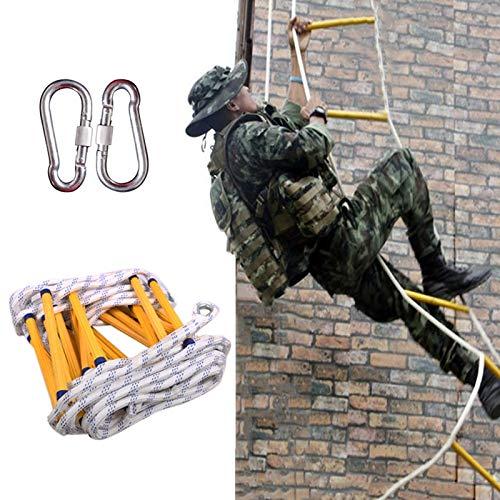 Escalera Cuerda Emergencia, Portátil Fácil De Usar con Ganchos Escaleras De Emergencia contra Incendios para Adultos Niños, Uso para Hogares, Escuelas Al Aire Libre ZHANGXU (Size : 30m)