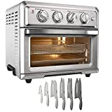 Cuisinart TOA-60 Convection Toaster Oven Air Fryer with Light, Silver Bundle with Exclusive Advantage 12-Piece Gray Knife Set with Blade Guards