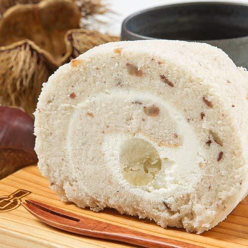 新杵堂 渋皮入栗きんとんロール 1本 ロールケーキ お土産 ギフト 栗 マロン | しっとりとした弾力 | ふわふわ触感