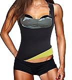 Damen Hot Schweiß Weste Neopren Sport Body Shaper Korsett Sauna-Anzug Waist Taille Cincher (XL(Fit...