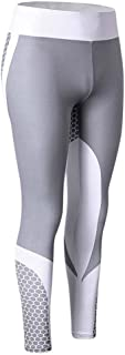 Womens Workout Leggings 3D Print Yoga Skinny Gym Fitness Sports Cropped Pants