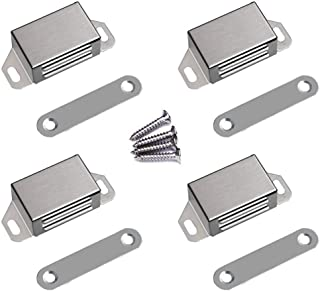 Best WOOCH Magnetic Door Catch - 25lb High Magnetic Stainless Steel Heavy Duty Catch for Kitchen Bathroom Cupboard Wardrobe Closet Closures Cabinet Door Drawer Latch (2.1 in Silver, 4-Pack) Review