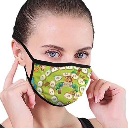 Preisvergleich Produktbild Viren-Schutzmaske Zoo Thema Brettspiel für Viren- und persönliche Gesundheit Viren-Schutzmaske Anti-Staub-Gesichtsmaske