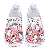 UOIMAG Bonitos Zapatos de Enfermera con Estampado de Gato para Mujer, Zapatillas de Moda, Zapatillas Ligeras para Correr, Regalo para niñas 36EU