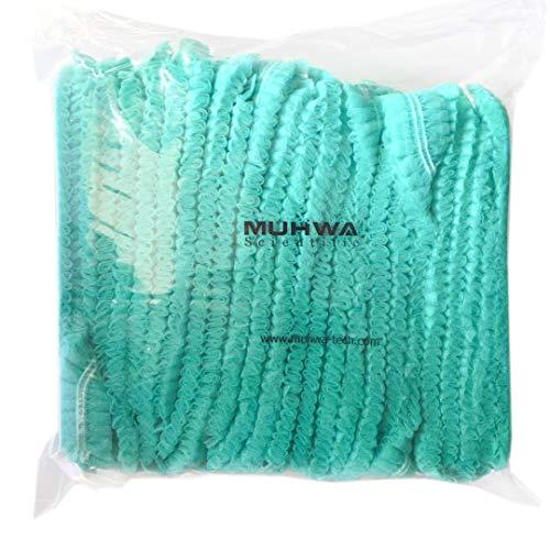 Einweg-Kappe, Haarnetz, 100 Stück, elastisch, Einheitsgröße, für Kosmetik, Schönheit, Küche, Kochen, Heim, Industrie, Krankenhaus, Grün
