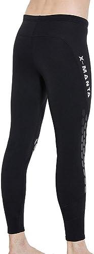 KERVINFENDRIYUN 1.5MM Hiver Pantalons de plongée Chauds en Hiver Hommes Costume de plongée Collants plongée en apnée Surf Maillot de Bain (Couleur   Noir, Taille   XXL)