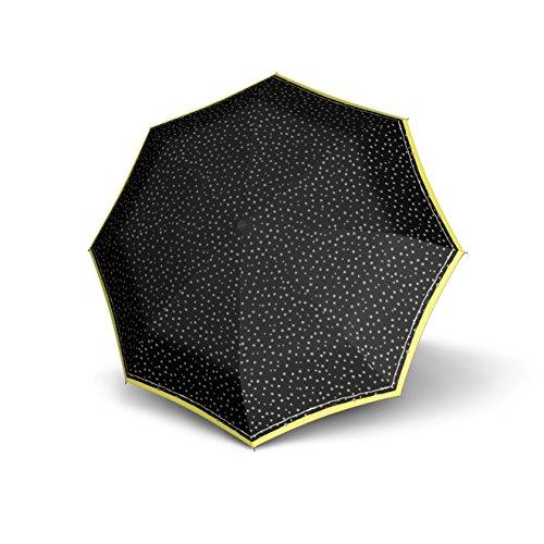 Knirps Taschenschirm X1 Dots – Der kleinste Regenschirm von Knirps – Leicht und sturmfest – Flakes Black