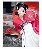 YUNGYE Disfraz antiguo Hanfu femenino falda de pecho completo fresco y elegante traje de cintura alta para columpio diario primavera y verano (color, tamaño: XL)