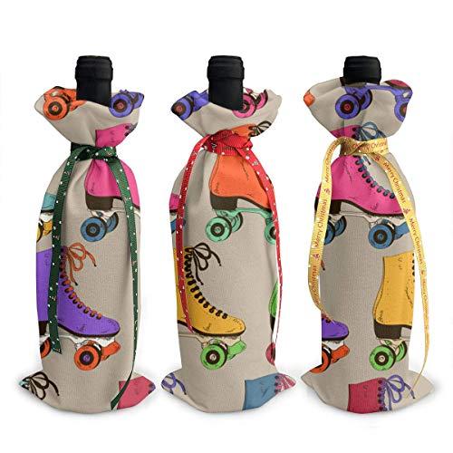 YANPING - Funda decorativa para botella de vino (3 unidades, para decoración de fiestas, hoteles, cocina, decoración de mesa
