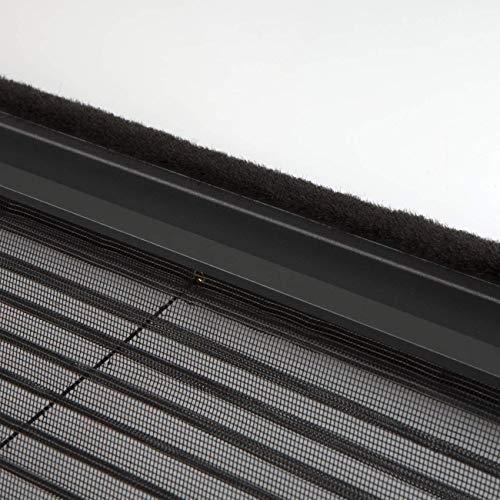 WIP Insektenschutz Fliegengitter Plisseetür 120x240cm, anthrazit
