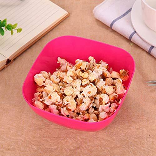 LQF Ensalada de fruta de plástico tazón de fuente de la placa de la categoría alimenticia cuadrados plásticos Melón de frutas Pequeños bocados de venta al por mayor del plato del caramelo utensilios d