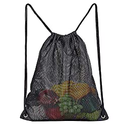 cheap High-performance drawstring mesh bag, storage bag for beach sports equipment, swimming