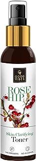 Good Vibes Rosehip Clarifying Toner 120 ml, Anti Ageing Hydrating Light Weight Moisturizing Revitalising Spray Toner for F...