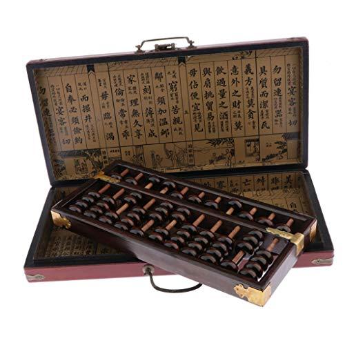 Hellery Chinesische Hölzerne Rechenmaschine Arithmetisches Chinesische Traditionelle Rechenwerkzeuge Für Kinder